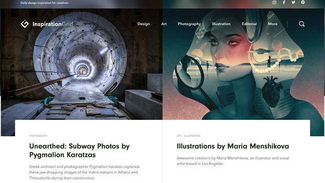 'Unearthed' series featured on Inspiration Grid