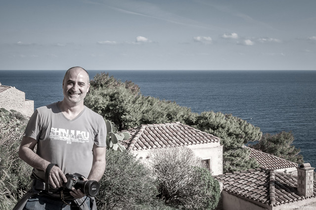 Photographing in Monemvasia