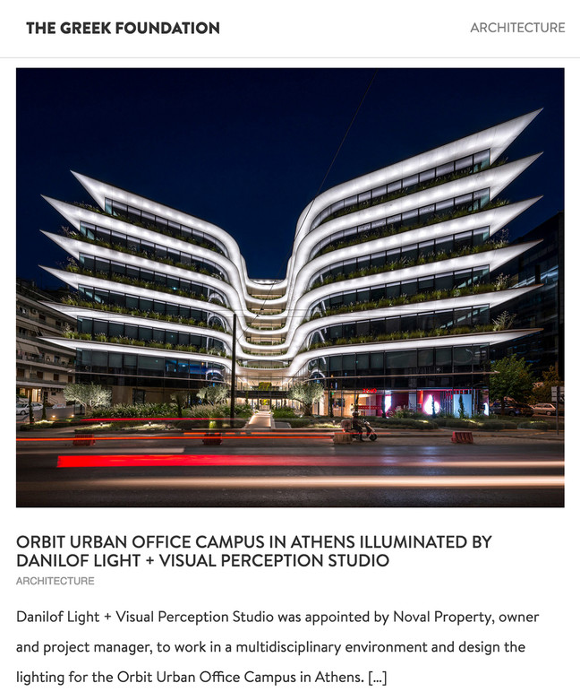The Orbit Urban Office Campus published on The Greek Foundation