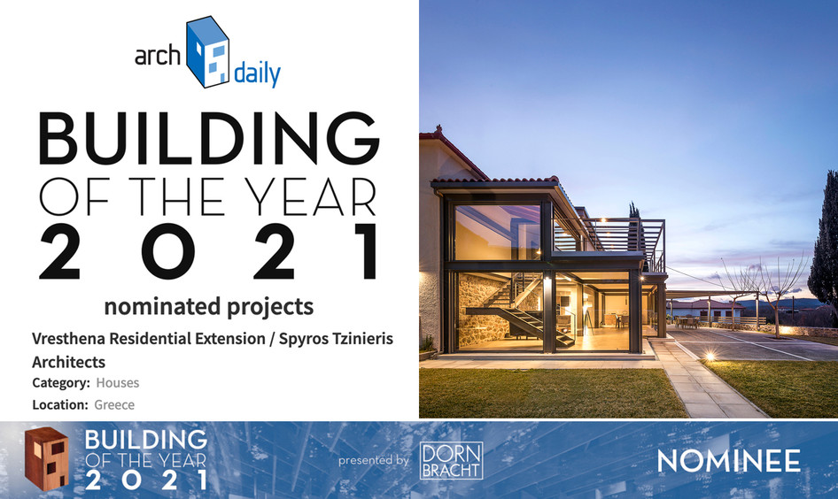 Vresthena extension nominated at the Archdaily Building of the Year 2021 Awards