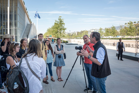 Visit SNFCC with Yiorgis Yerolymbos during UTK course