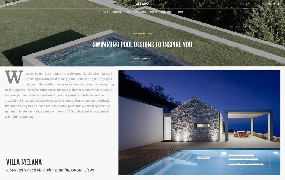 Villa Melana featured on Gessato's swimming pool designs