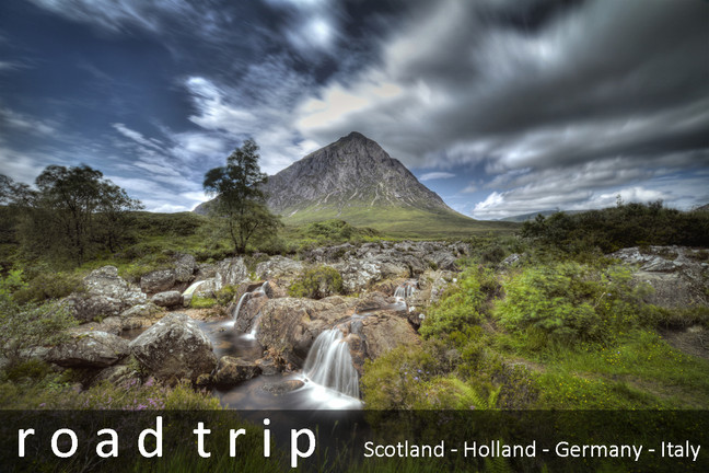 On the road - Scotland to Italy