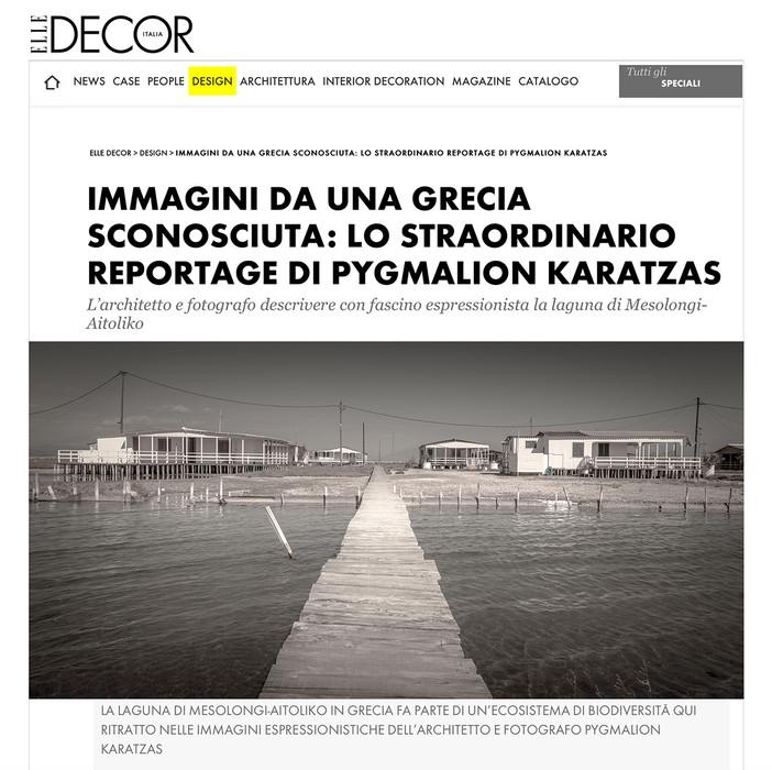 Mesolongi Lagoon series on ELLE Decor Italia