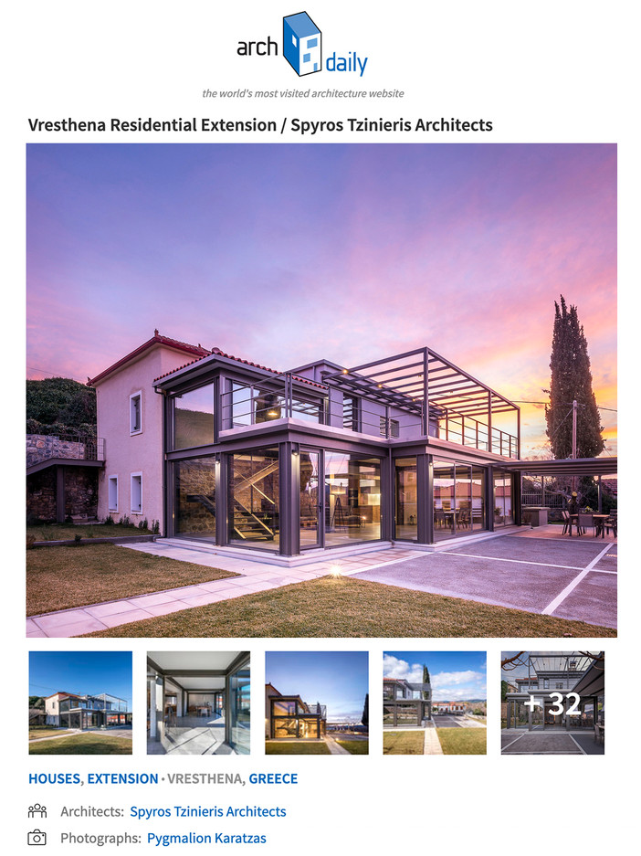 Vresthena residential extension published on Archdaily