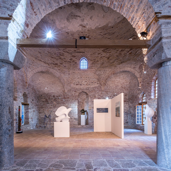 Photo shoot of the day - 'Lagoons' exhibition in Fethiye Mosque