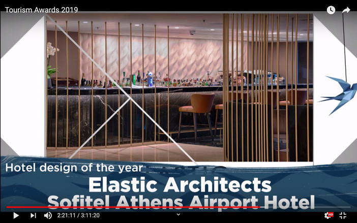 'Hotel design of the year' silver award for Elastic Architects / Sofitel Athens Airport Hote