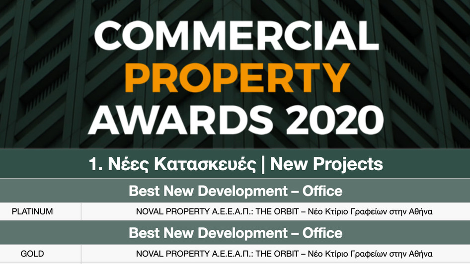 The Orbit receives platinum award at the Commercial Property Awards 2020