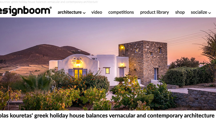 Holiday house in Paros published on Designboom.com