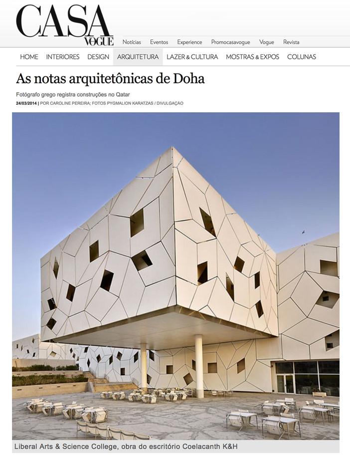 Doha photo-reportage on Casa Vogue Brazil