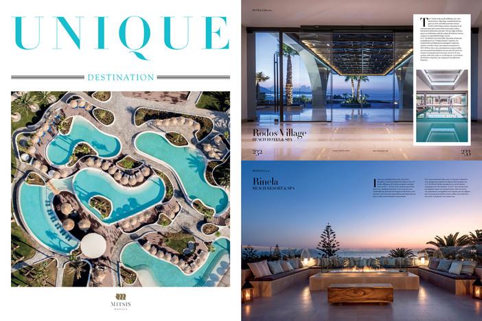 Rinela Hotel & Rodos Village Hotel featured on Unique Destination Magazine
