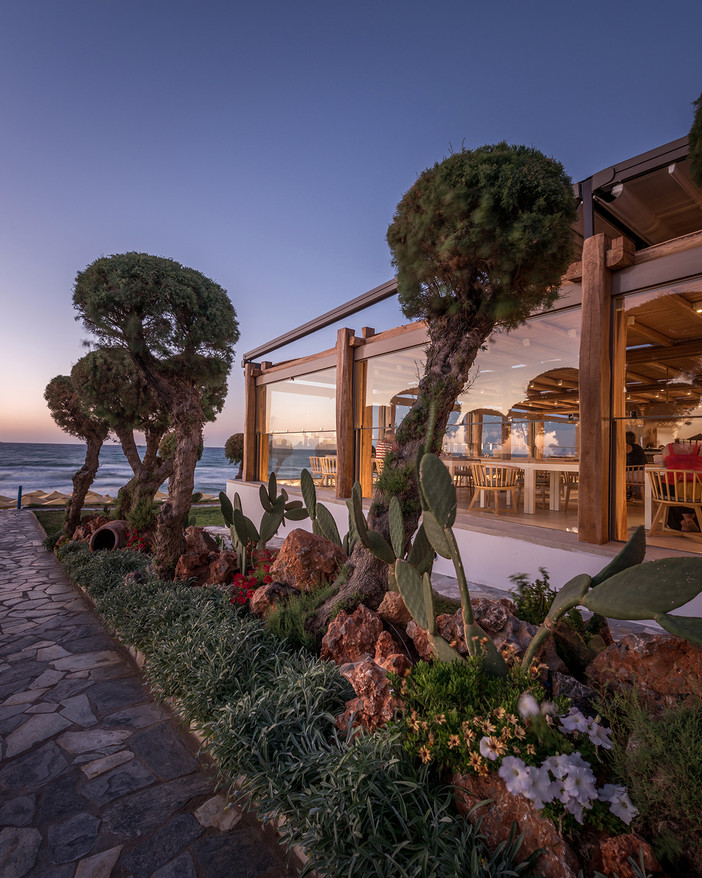 Project update - additional images from Rinela Restaurant in Crete by Elastic Architects