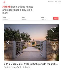 airbnb kythera julia