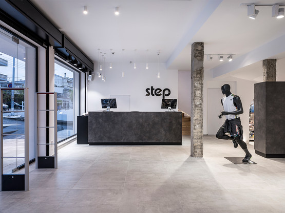 Photo shoot of the day for Leaf Architects at Step athletic stores