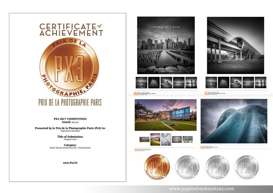 'Integral Lens' book received 3rd place in PX3 Prix de la Photographie Paris 2017