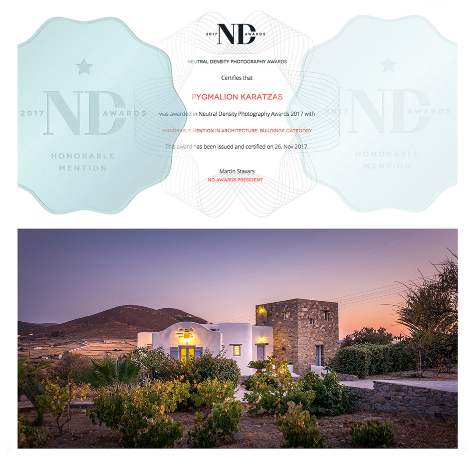 Honorable Mention at the ND Awards 2017 with image 'Cycladic'