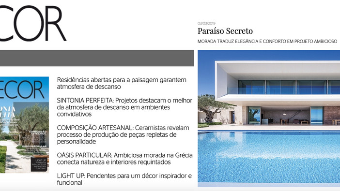 TRIF House cover feature on Revista Decor magazine in Brazil