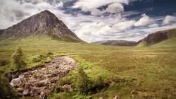 Glen Etive aerial, Highlands