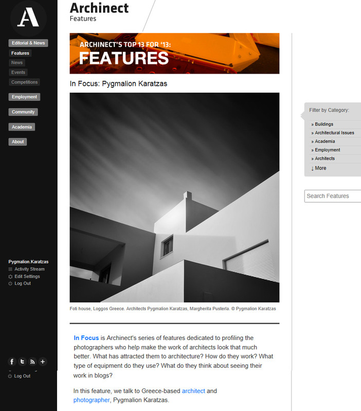 Featured interview on Archinect