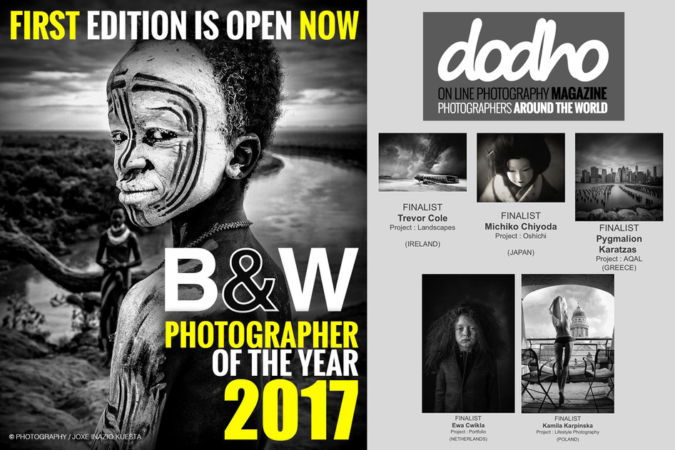Finalist at the Black & White Photographer of the Year by Dodho Magazine
