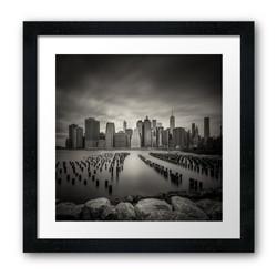 framed prints black manhattan