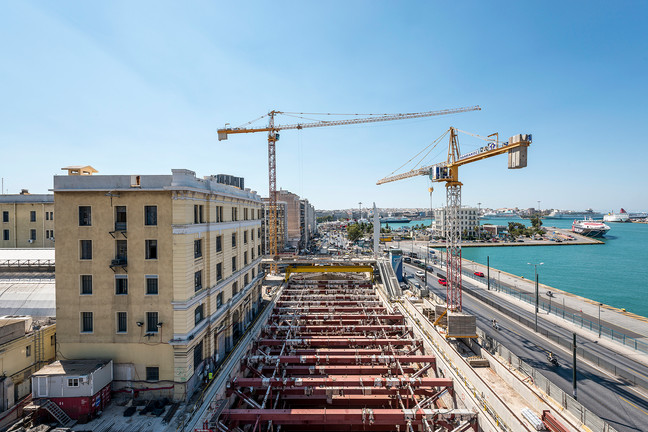 Project update - Attiko Metro Piraeus Harbor construction site