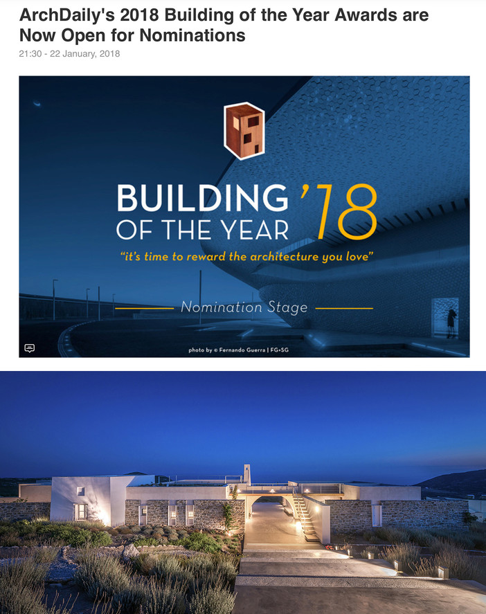 ArchDaily's 2018 Building of the Year nominations are open for public voting