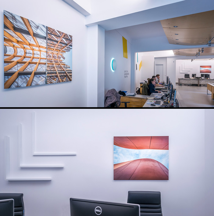 Offices decoration with images from EXPO Milano pavilions