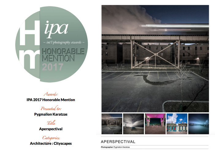 'Aperspectival' series receives honorable mention at the IPA 2017 awards