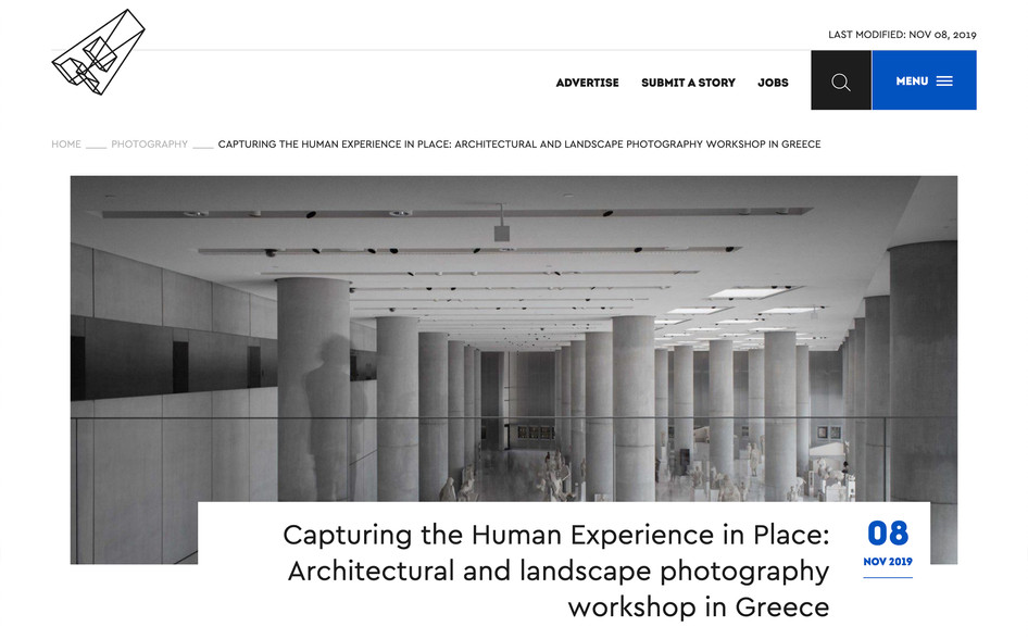 UTK Greece 2019 course featured on archisearch.gr