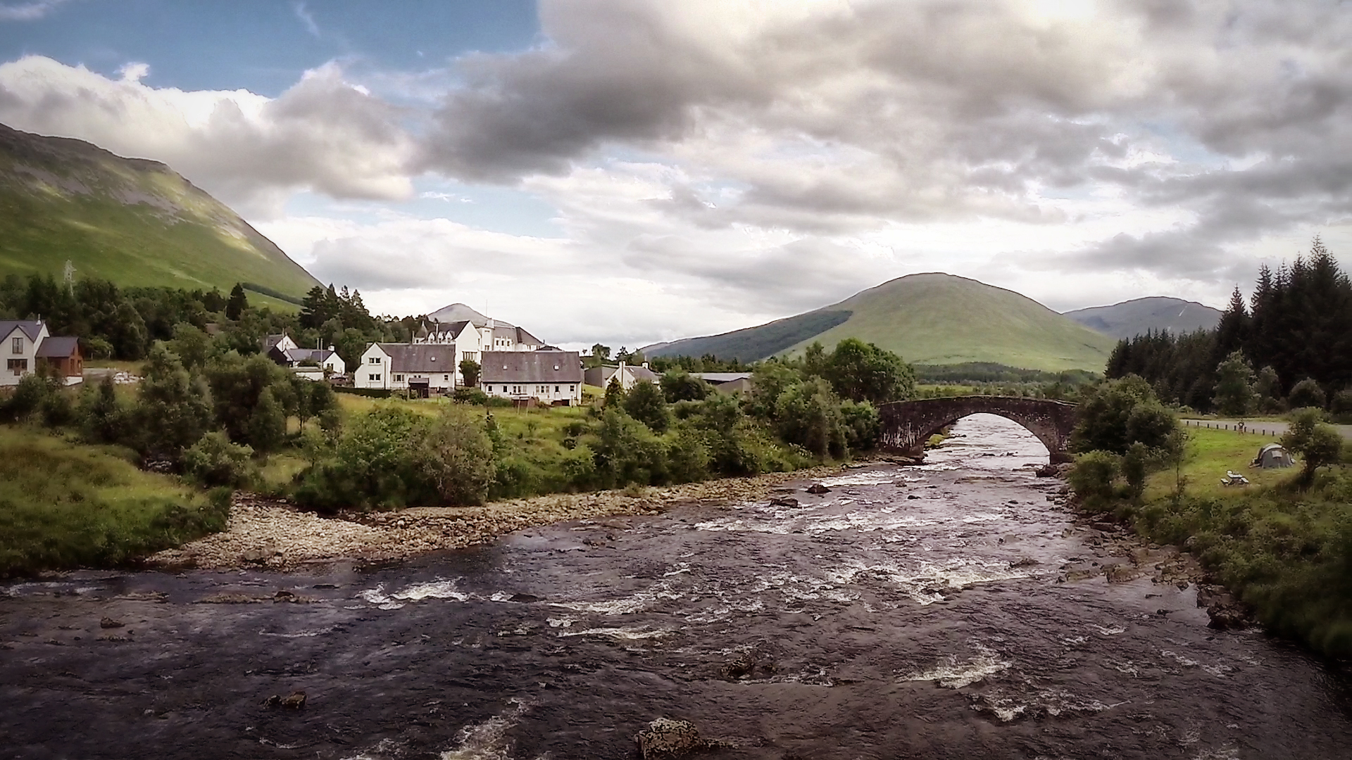 Orchy bridge aerial