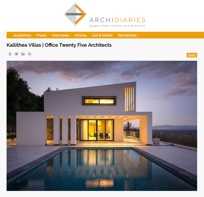Kallithea Villas published on ArchiDiaries
