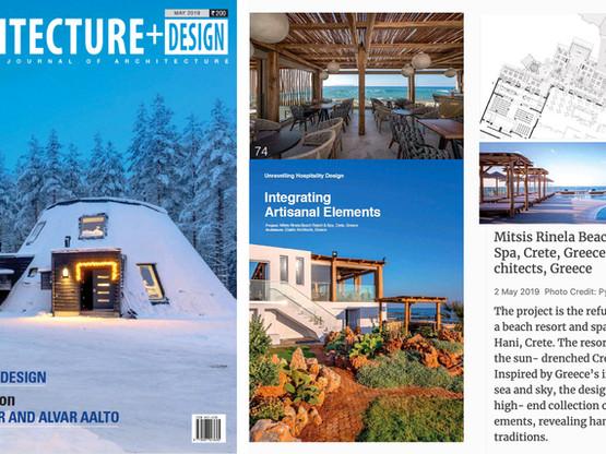 Mitsis Rinela Hotel published in Architecture + Design Magazine