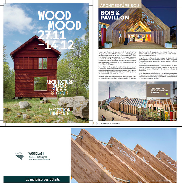 'Architecture & Wood' exhibitions in Belgium by RND