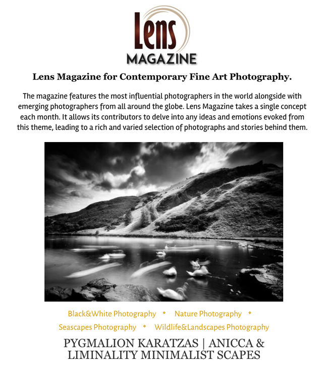 Anicca & Liminality series featured on Lens Magazine