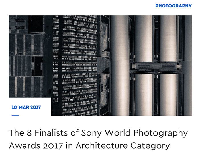 Sony World Photography Awards for architecture on archisearch.gr