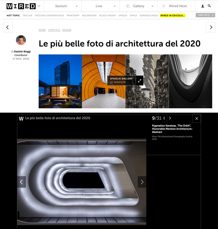 IPA 2020 Architecture Photography winners featured on Wired Italia Magazine