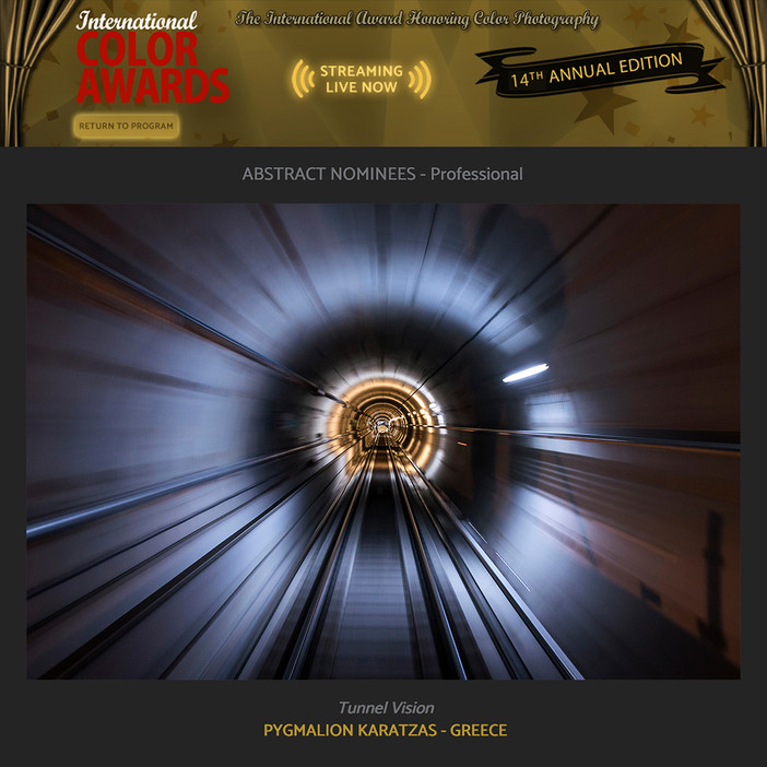 'Tunnel Vision' nominated at the International Color Awards 2021