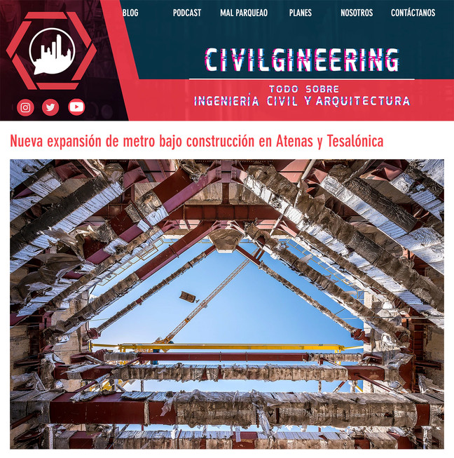Unearthed - Attiko Metro project featured on Civilgineering.com