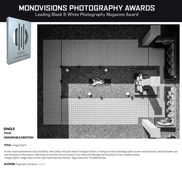 Monovisions Awards 2020 - Honorable Mention for 'Lake Hotel Yoga Session'