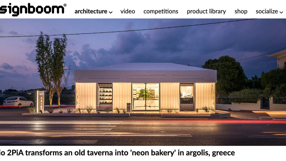 Neon Bakery featured on Designboom