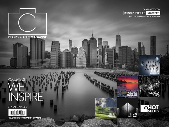 Silver Photography Award and cover story on Camerapixo Magazine 'We Inspire' vol.21