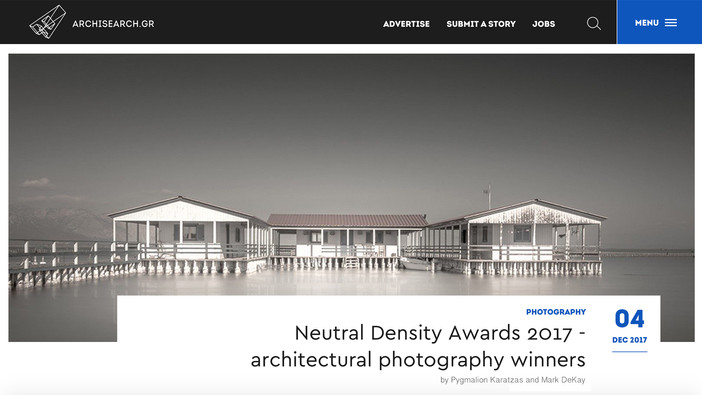 ND Awards 2017 and the 4 perspectives of architectural photography on Archisearch.gr