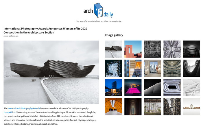 IPA 2020 architecture winners featured on Archdaily.com