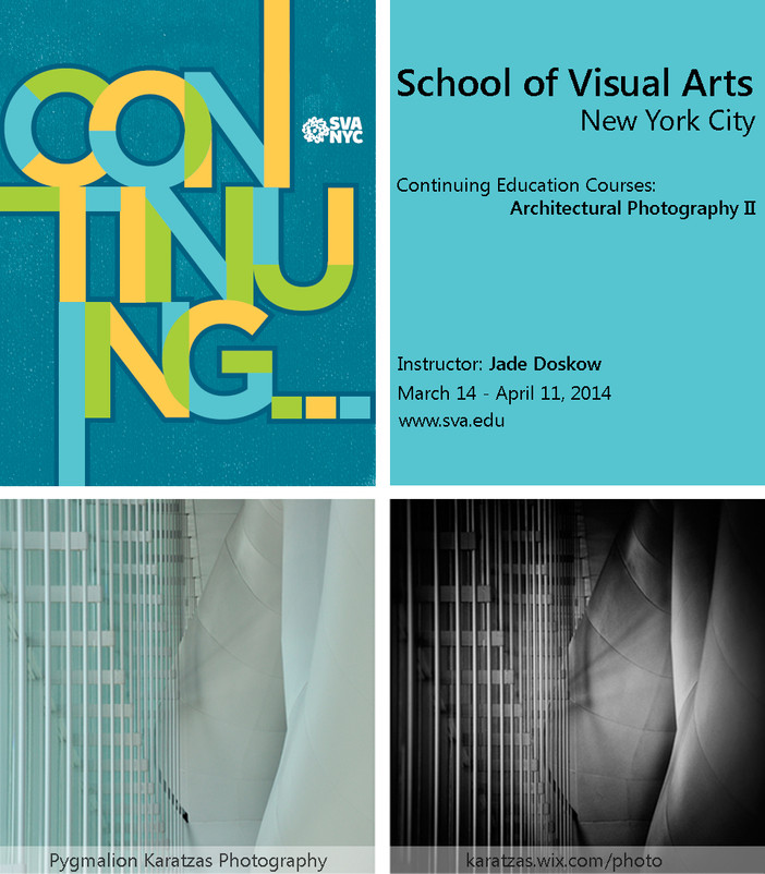 School of Visual Arts NYC - architectural photography course