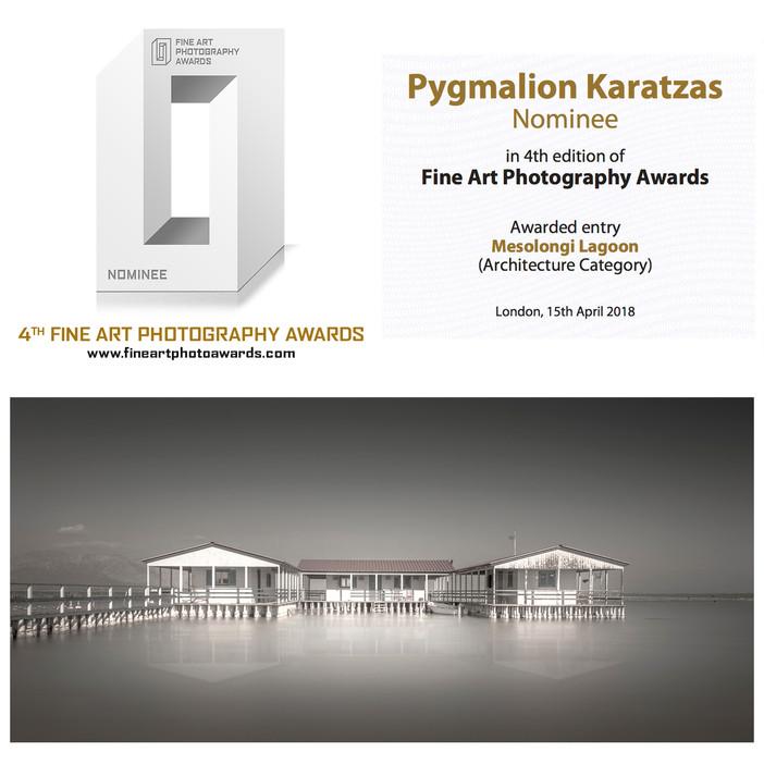 'Mesolongi Lagoon' nominee at the Fine Art Photography Awards 2018