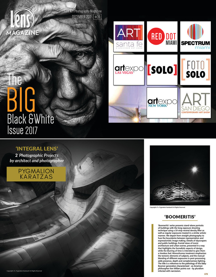 Integral Lens featured in Lens Magazine The Big Black & White issue 2017