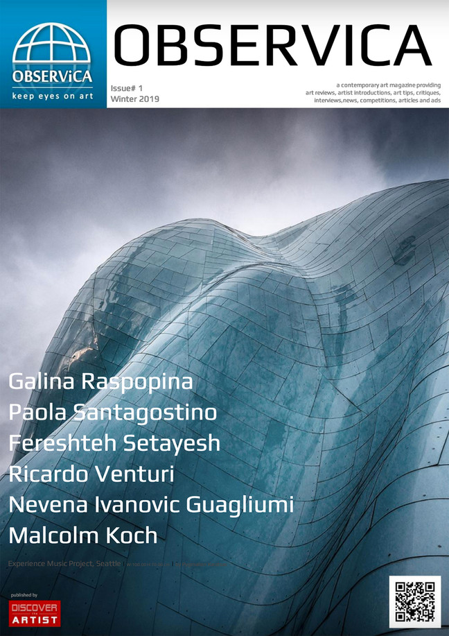 Observica Canadian Art Magazine - Cover feature