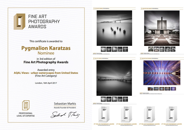 Four nominations at the Fine Art Photography Awards 2017