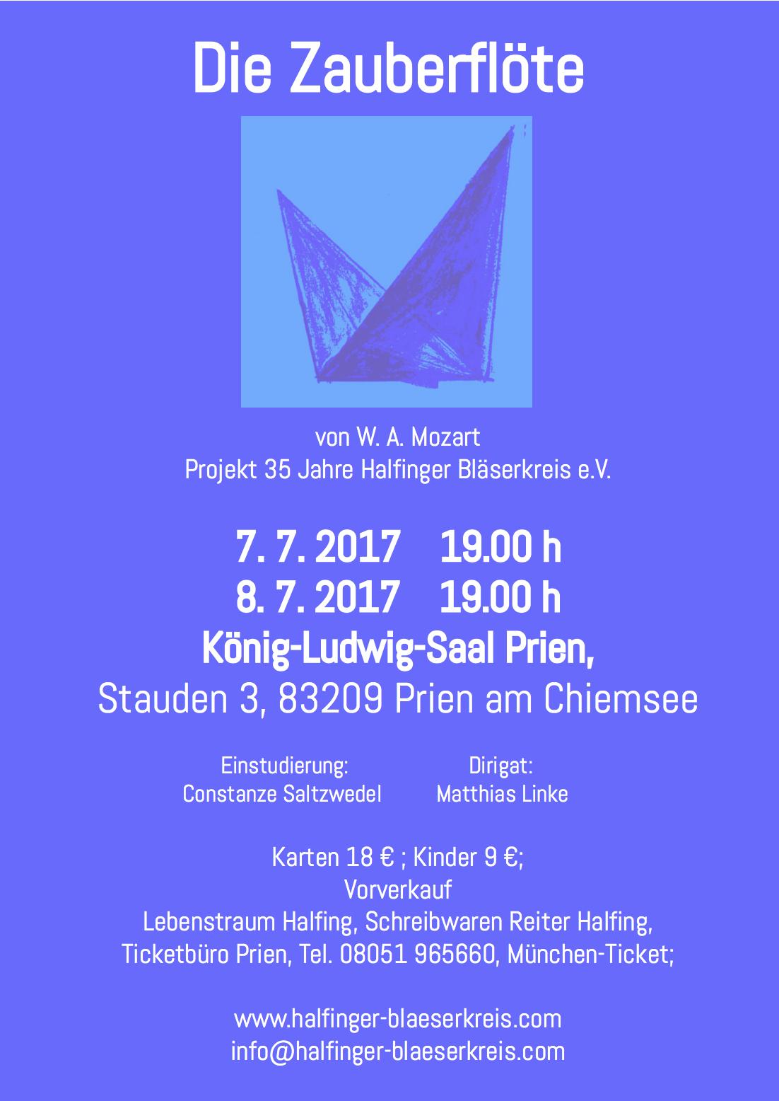 Plakat Zauberflöte 2017